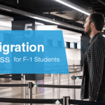 What is the immigration process for F-1 students?