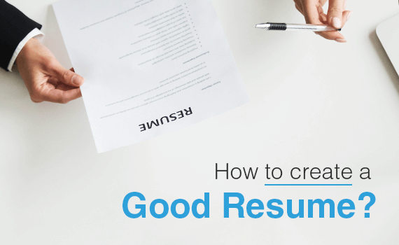 How to create a good Resume | MS Applications