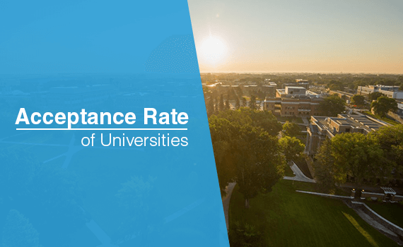 What is the acceptance rate of universities?