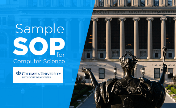 Sample SOP for Masters in CS at Columbia University