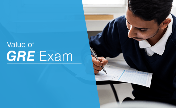 What is the value of GRE Exam?
