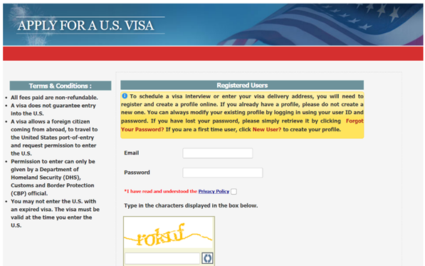 Complete the Visa Application